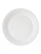 10 Petites assiettes en carton home compostable blanches 18 cm