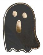 16 Serviettes en papier petit fantôme noir et or 33 x 24 cm