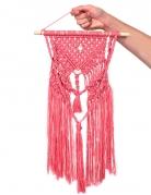 Kit macramé suspension bohème rose 30 x 50 cm