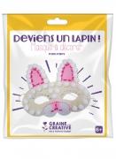 Kit masque en feutrine Lapin 18 x 21 cm