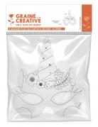 6 Masque plats à décorer en carton Licorne