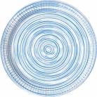 8 Assiettes en carton blue circles 23 cm