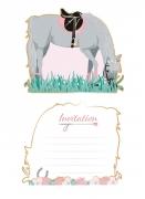 8 Cartes d'invitation Cheval 13 cm
