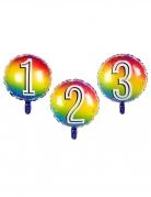 Ballon aluminium multicolore chiffre 45 cm